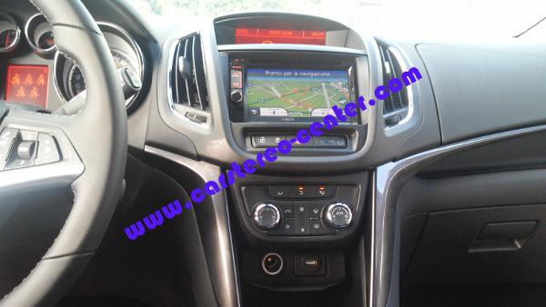 Navigatore 2din Opel Zafira Tourer E Telecamera Con Linee