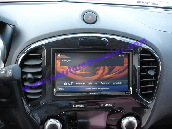 nissan juke con navigatore kenwood dnx9210bt e telecamera. Black Bedroom Furniture Sets. Home Design Ideas