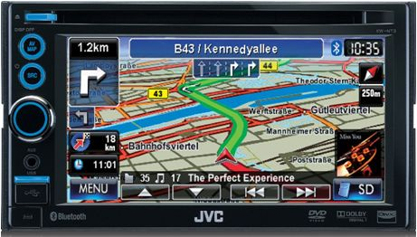 Navigatore JVC KW-NT30 con bluetooth, dvd, usb, sd card
